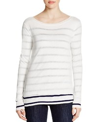 Cupio Striped Overlay Sweater