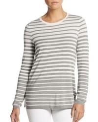 Vince Striped Silk Cashmere Crewneck Sweater