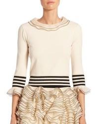 Alexander McQueen Tiered Ruffle Knit Sweater