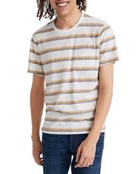 Madewell Allday Griswald Stripe Triblend Crewneck Pocket T Shirt