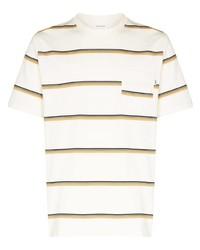 Wood Wood Bobby Stripe Pattern T Shirt