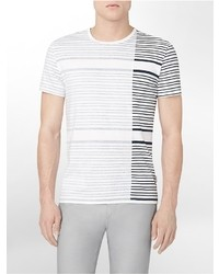 Calvin Klein Body Slim Fit Striped Cotton T Shirt