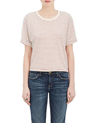 Current/Elliott Breton Striped Cotton Blend T Shirt