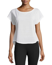 Asics Cleo Pop Double Wrap Striped Tee Real White