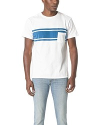 Velva Sheen College Stripe Pocket Tee