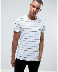 Esprit Crew Neck T Shirt In Washed Breton Stripe