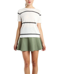 Ellis tee in whiteblack stripe medium 165221