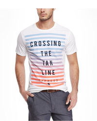 Express Graphic Tee Ombre Stripe