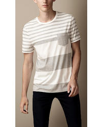 Burberry Liquid Soft Cotton Striped T Shirt