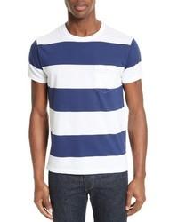 Todd Snyder Oversize Stripe Pocket T Shirt