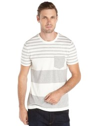 Burberry Pale Grey And White Striped Tolsford T Shirt