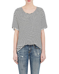 R 13 R13 Rosie Striped Cotton T Shirt