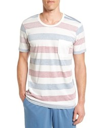 Daniel Buchler Reverse Stripe Pima Cotton Modal Crewneck T Shirt