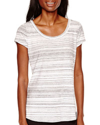 Liz Claiborne Short Sleeve Striped T Shirt