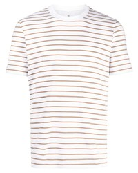 Brunello Cucinelli Striped Crew Neck T Shirt