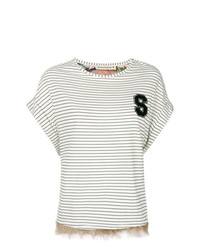Striped fringed t shirt medium 7765629