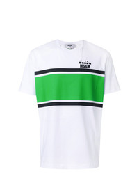 MSGM Striped Logo T Shirt
