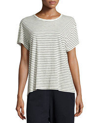 Vince Striped Relaxed Fit Pima Tee