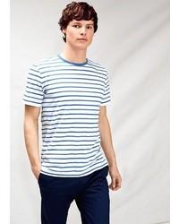 Mango Striped Textured T Shirt