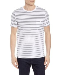 French Connection Summer Graded Stripe Pocket T Shirt