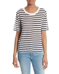 T by stripe tee medium 3650044