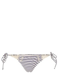 Topshop Crochet Stripe Tie Side Bikini Bottoms