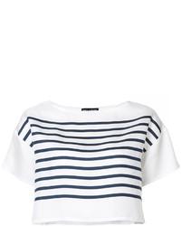 Dolce & Gabbana Striped Crop Top