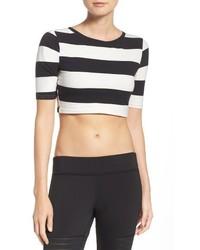 Reebok Yoga Stripe Crop Top