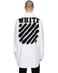 Off-White Spray Stripes Cotton Denim Shirt
