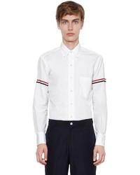 Thom Browne Cotton Oxford Shirt W Striped Arm Bands