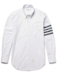 Slim fit striped cotton oxford shirt medium 584579
