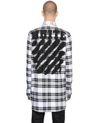 Off-White Spray Stripes Cotton Flannel Shirt