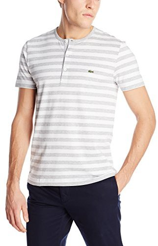 Lacoste short sleeve striped henley t shirt where to buy for Kim kardashian henley shirt