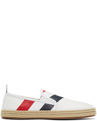 Thom Browne White Diagonal Stripe Espadrilles
