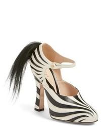 Gucci Lesley Zebra Stripe Pump