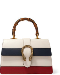 Gucci Dionysus Bamboo Medium Paneled Leather Tote Cream