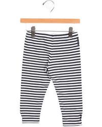 Armani Junior Girls Striped Jersey Knit Leggings
