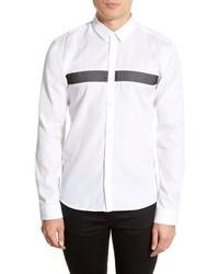 Hugo Ero Slim Fit Mesh Stripe Sport Shirt