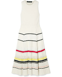 Proenza Schouler Striped Stretch Knit Midi Dress