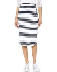 Monrow Stripe Pencil Skirt