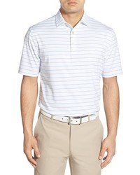 White Horizontal Striped Polo