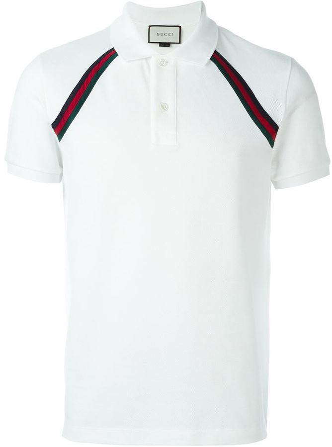 ad8a520f8 Gucci Contrast Stripe Polo Shirt, $418 | farfetch.com | Lookastic.com