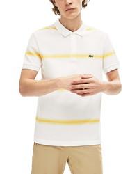 Lacoste Regular Fit Ombre Stripe Organic Cotton Polo