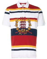 Kent & Curwen Striped Embroidered Logo Polo Shirt
