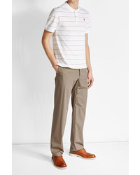 Ami Striped Polo Shirt