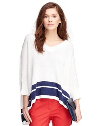 Brooks Brothers Cotton Poncho Sweater