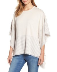 Stripe poncho sweater medium 5262363