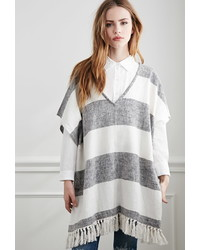 Forever 21 Striped Poncho