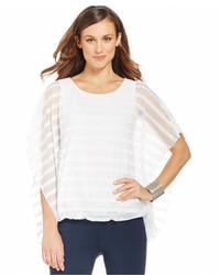Butterfly sleeve illusion stripe blouse medium 321335