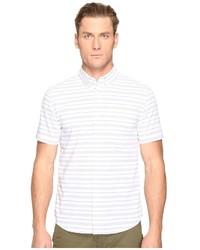 Jack Spade Short Sleeve Horizontal Variated Stripe Button Down Short Sleeve Button Up